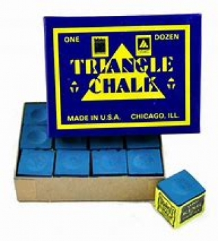 Triangle Chalk Blue Box of 12