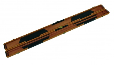 Black & Brown Patchwork 'Leather Look' ¾ Snooker Cue Case