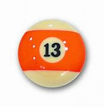 Aramith Individual Pool Ball Nr.13 Orange Stripe 54mm