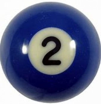 Aramith Individual Pool Ball Nr.2 Blue 52.5mm