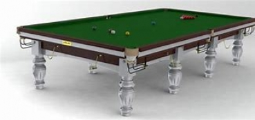 Riley Club 8ft Mahogony Finish Silver Frame & Legs Standard Cushion Snooker Table (8ft  243cm)