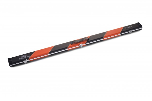 Black & Orange Stripe 3/4 Halo Snooker Cue Case