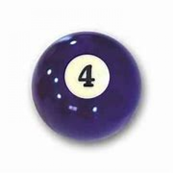Aramith Individual Pool Ball Nr.4 Purple 47.5mm