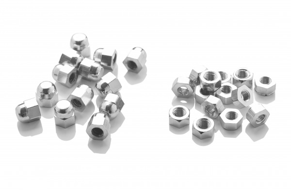 Dome Nuts – Chrome M5 thread (hold end plate on runner) (Bag of 100)